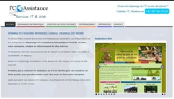 Positionnement du site internet PC Assistance